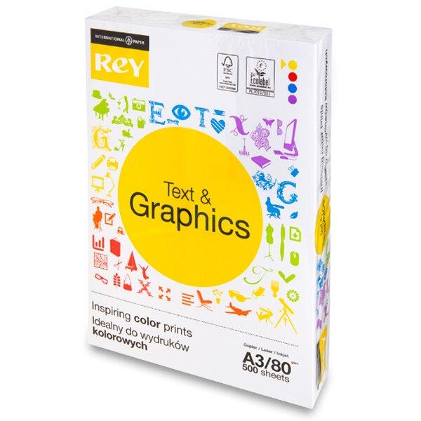 Kancelářský papír Rey Text & Graphics A3, 80 g, 500 listů