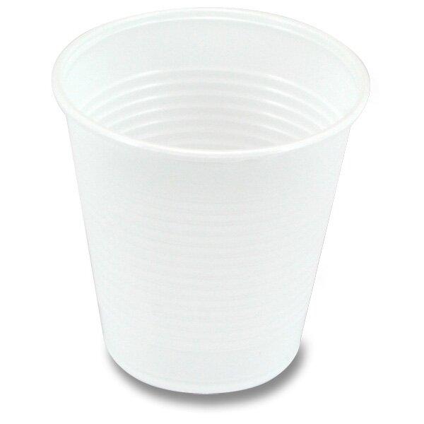 Plastové bílé kelímky objem 0,15 l, 100 ks