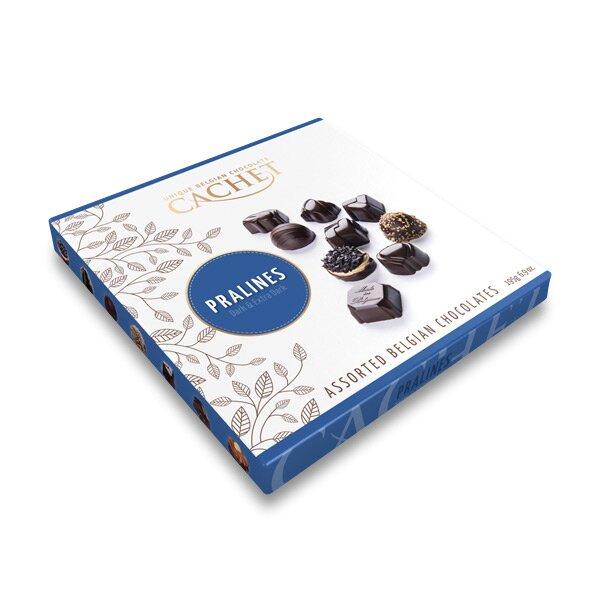 Belgické pralinky z hořké čokolády s náplní Cachet 200 g