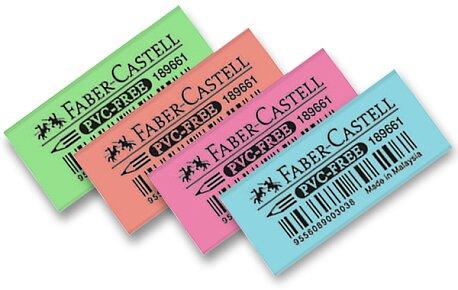 Obrázek produktu Pryž Faber-Castell Fluorescent Mini - mix barev