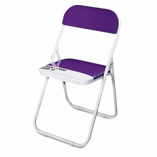 Dětská skládací židle Seletti Pantone fialová