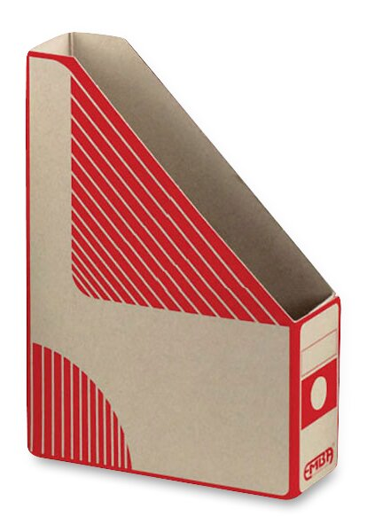 Otevřený archivační box Emba 330 x 230 x 75 mm, červený