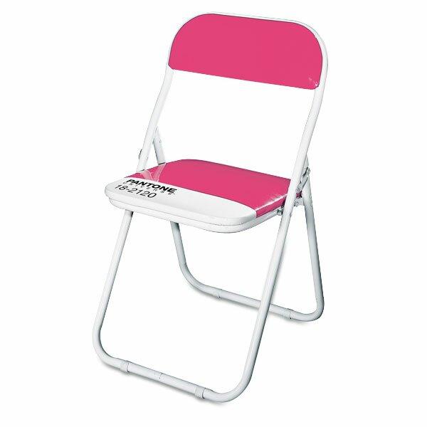Dětská skládací židle Seletti Pantone tmavě růžová