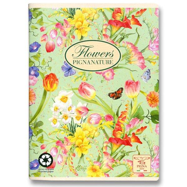 Školní sešit Pigna Nature Flowers - jarní květy A5, linkovaný, 40 listů