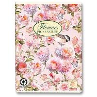 Školní sešit Pigna Nature Flowers - růžové květy