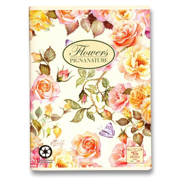 Školní sešit Pigna Nature Flowers - růže A5, linkovaný, 40 listů