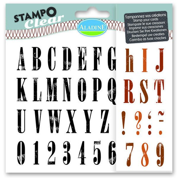 Razítka gelová Stampo Clear - Abeceda Standfort