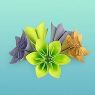 Skládané květiny z papíru