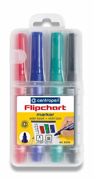 Popisovač Centropen Flipchart Market 8550 sada 4 barev