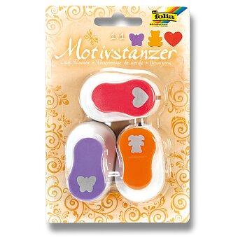 Obrázek produktu Děrovačka Folia ozdobná - motiv srdce, motýl, medvěd