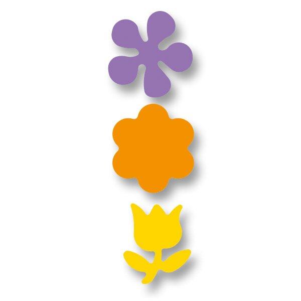 Děrovačka ozdobná motiv květiny, 3 kusy