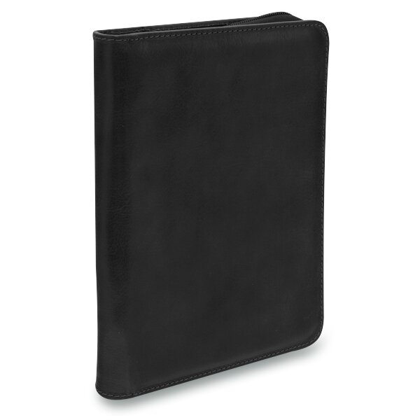 Luxusní kožené desky na zip Triton Mapa A5 černé