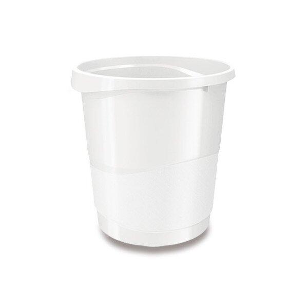 Plastový odpadkový koš Esselte Vivida bílý