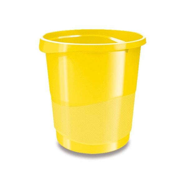 Plastový odpadkový koš Esselte Vivida žlutý