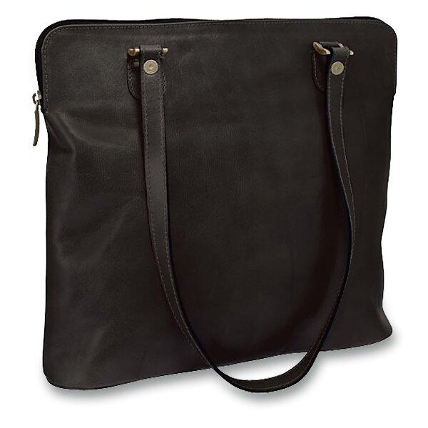 Luxusní kožená kabelka Triton Minerva černá