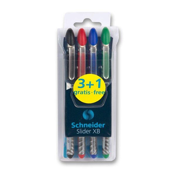Jednorázová kuličková tužka Schneider Slider XB sada 4 barev