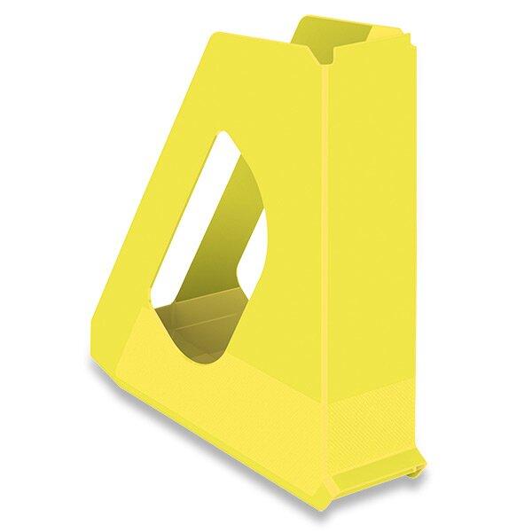 Stojan na časopisy Esselte Vivida žlutý