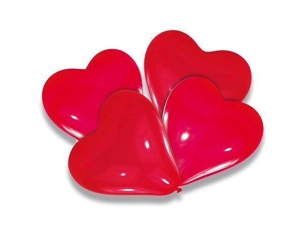 Nafukovací balónky - srdce 4 ks