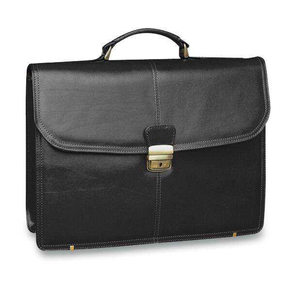 Luxusní kožená aktovka Triton Garros černá
