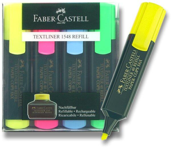 Zvýrazňovač Faber-Castell Textliner 1548 sada 4 barev