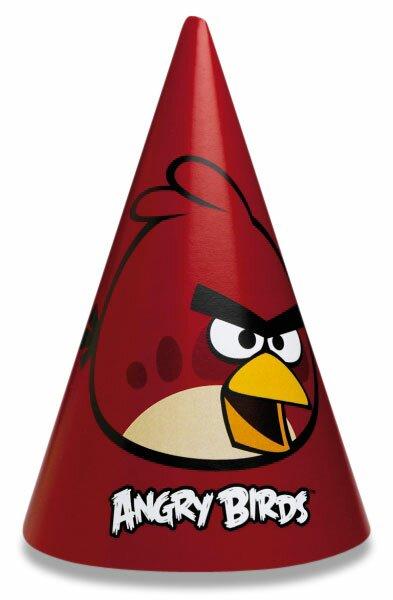 Party kloboučky Angry Birds 6 ks