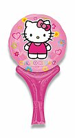Nafukovací balónek s rukojetí - Hello Kitty