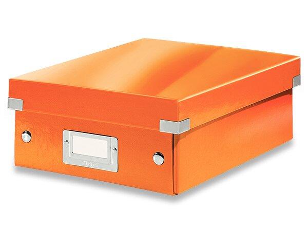 Organizační krabice Click & Store vel. S oranžová