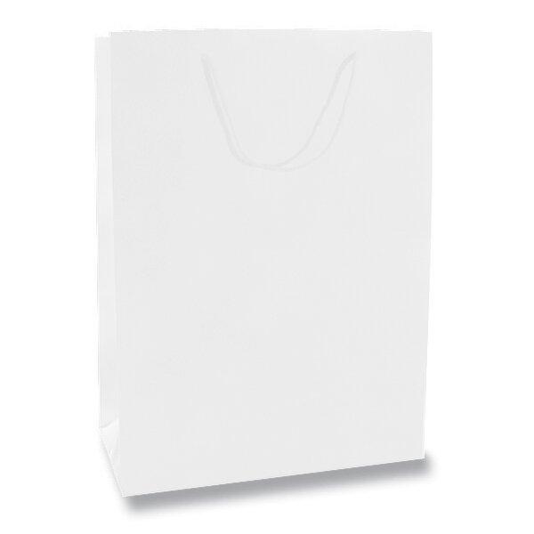 Velká papírová taška Hart s laminem bílá