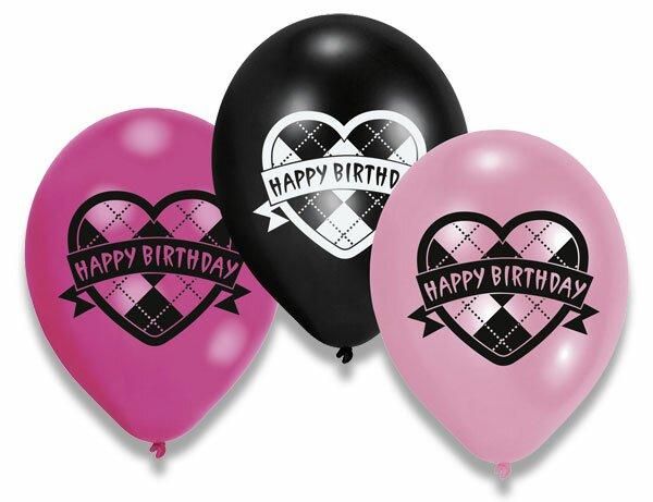 Nafukovací balónky Monster High 6 ks