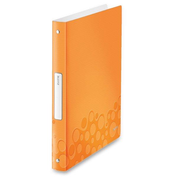 4 - kroužkový pořadač Leitz Style Wow oranžový