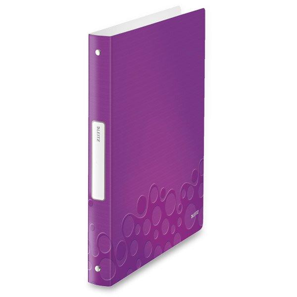 4 - kroužkový pořadač Leitz Style Wow fialový