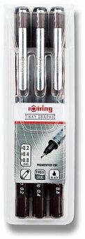Obrázek produktu Souprava grafických linerů Rotring Tikky Graphic - 0,2, 0,4 a 0,8 mm