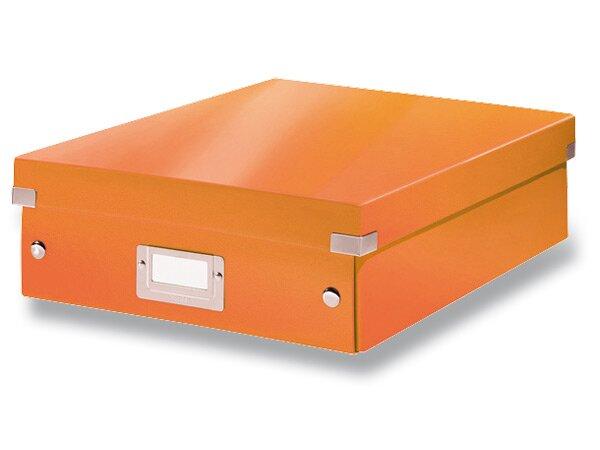 Organizační krabice Click & Store vel. M oranžová
