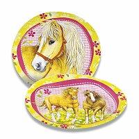 Papírové talířky Charming Horses
