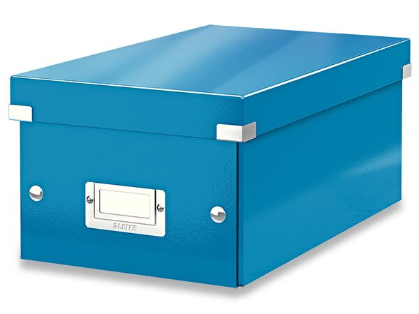 Box na DVD Leitz Click & Store modrý