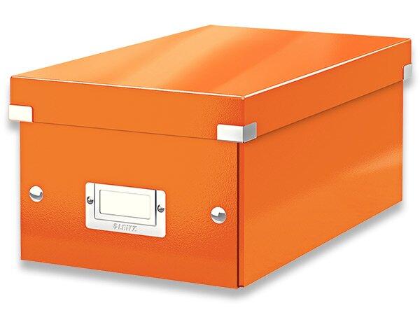 Box na DVD Leitz Click & Store oranžový