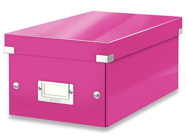 Box na DVD Leitz Click & Store růžový