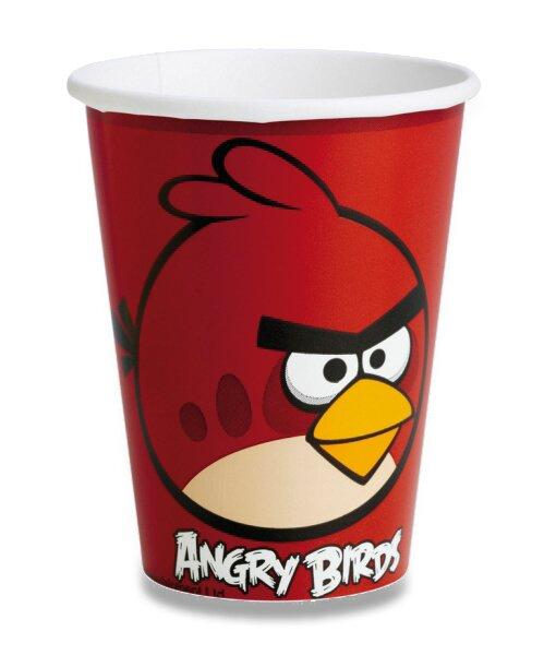 Papírové kelímky Angry Birds objem 0,25 l, 8 ks