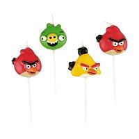 Dortové svíčky Angry Birds, mix motivů