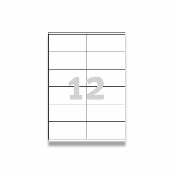 Bílé univerzální etikety Avery Zweckform 105,0 x 48,0 mm, 1200 etiket