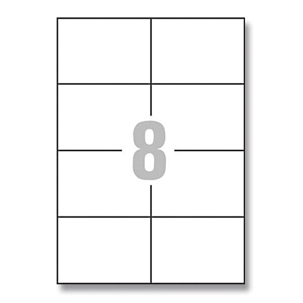 Bílé univerzální etikety Avery Zweckform 105,0 x 74,0 mm, 800 etiket