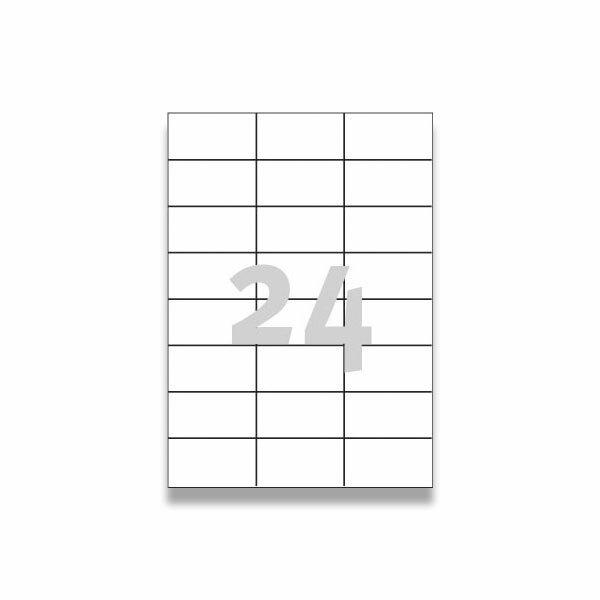 Bílé univerzální etikety Avery Zweckform 70,0 x 37,0 mm, 2400 etiket