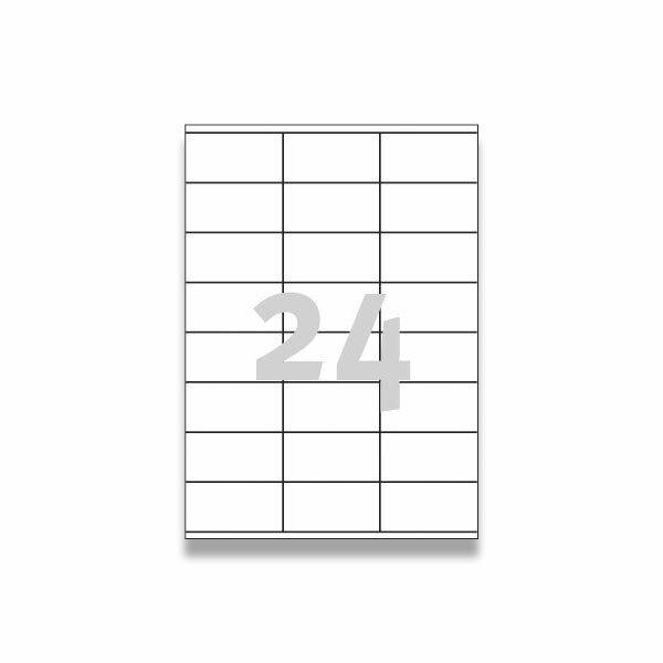 Bílé univerzální etikety Avery Zweckform 70,0 x 36,0 mm, 600 etiket