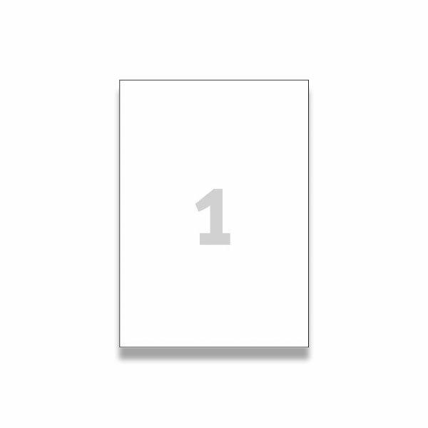 Bílé univerzální etikety Avery Zweckform 210,0 x 297,0 mm, 100 etiket