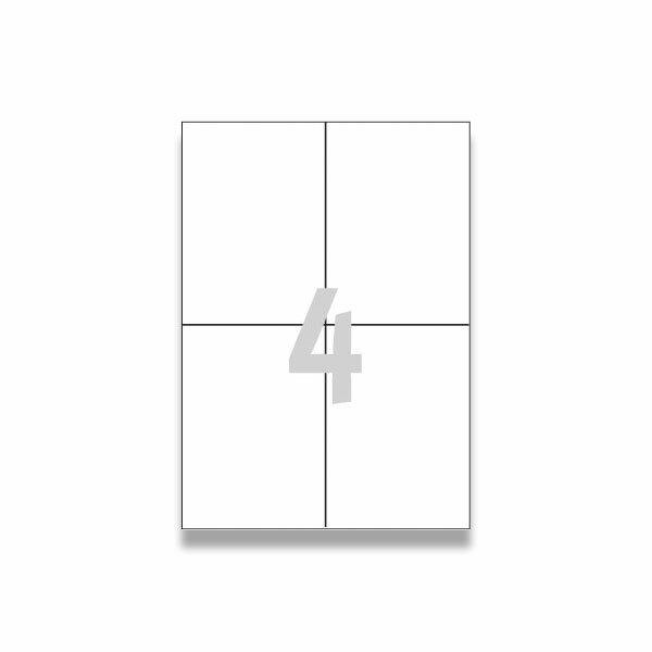 Bílé univerzální etikety Avery Zweckform 105,0 x 148,0 mm, 400 etiket
