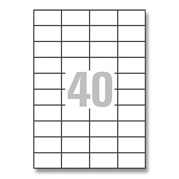 Bílé univerzální etikety Avery Zweckform 52,5 x 29,7 mm, 4000 etiket