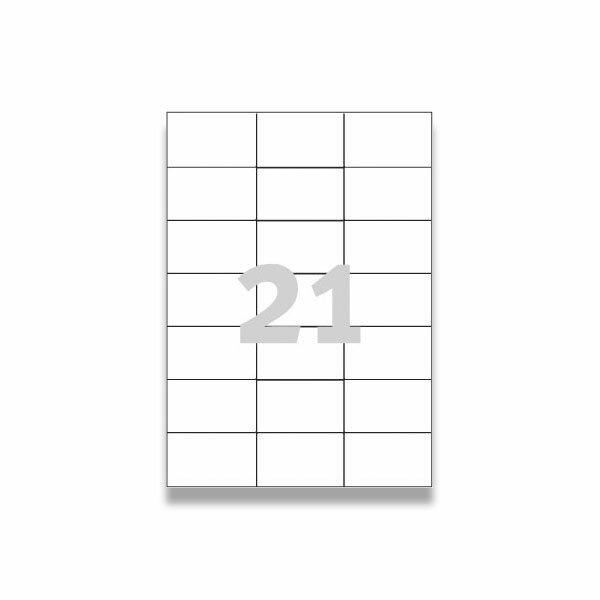 Bílé univerzální etikety Avery Zweckform 70,0 x 42,3 mm, 2100 etiket