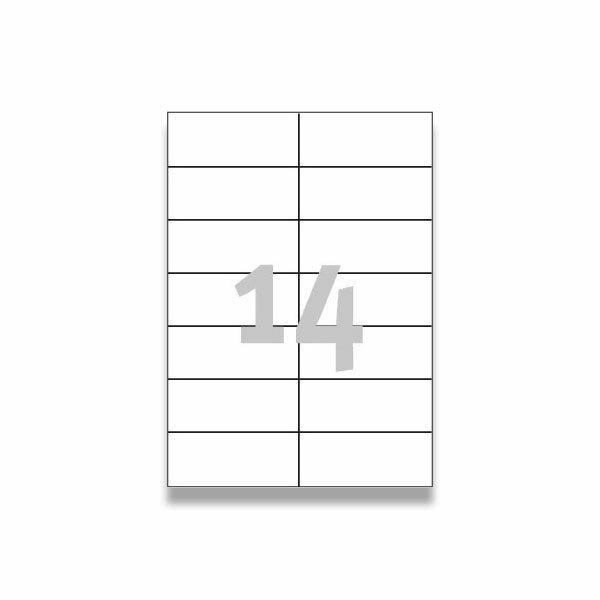 Bílé univerzální etikety Avery Zweckform 105,0 x 42,3 mm, 1400 etiket