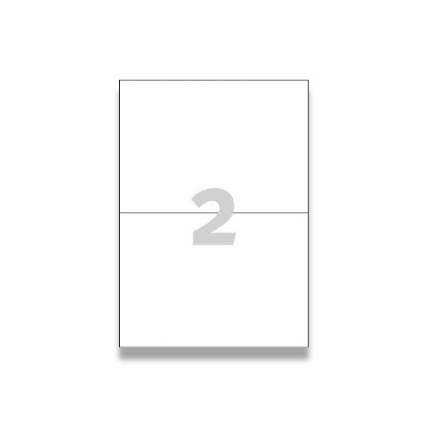 Bílé univerzální etikety Avery Zweckform 210,0 x 148,0 mm, 200 etiket