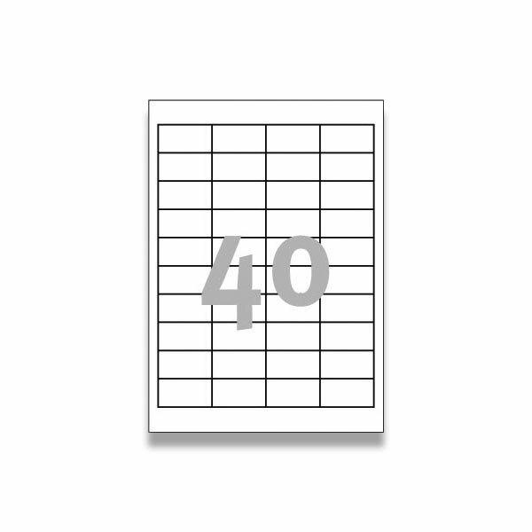 Bílé univerzální etikety Avery Zweckform 48,5 x 25,4 mm, 1000 etiket